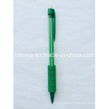 Пластиковый цветный механический карандаш с мягкой резиновой ручкой