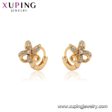 96904 xuping fashion hoop windmill cubic stone earring for women