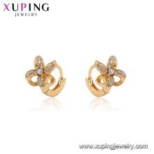 96904 xuping мода обруч мельница кубический камень серьги для женщин