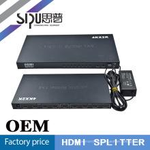 SIPUO Metal caso hdmi splitter 1 x 8 para soporte de HDTV 4 k * 2 k plata, color negro