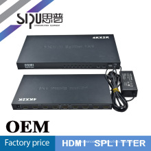 SIPU Metal case hdmi splitter 1x8 for HDTV support 4k*2k silver, black color
