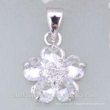 rhodié placage dernière modèle collier de mode 2018 collier pendentif en cristal bijoux plaqué rhodium est votre bon choix