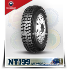 Neoterra container truck tire Special Four-rid tread groove design makes 11R22.5 tyre