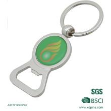 Personnalisé à bas prix métal bouteille ouvreur autocollant porte-clé (xd-031737)