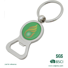 Customized Cheap Price Metal Bottle opener Sticker Keychain (xd-031737)