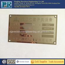 Personalizadas de corte a laser placas de nome de porta de latão