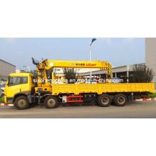 Sinotruk 8X4 XCMG estrutura forte montada Sq16sk4q do guindaste do caminhão de 16 toneladas