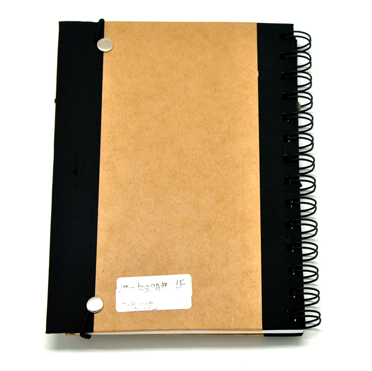 Kraft Paper Coil Notebook Calculator with Pen