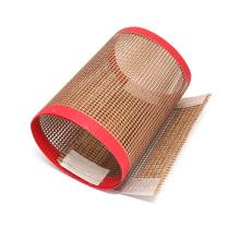 Cinto de malha de fibra de vidro PTFE antiaderente resistente ao calor