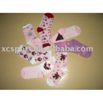 Хлопковые рождественские носки