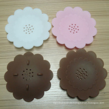 Eco-Friendly Hot Selling Flower Shape Silicone Soap Mat Soap Box