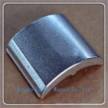 Forma de azulejo del imán de neodimio para motores de corriente continua