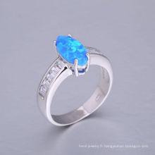 2018 nouveau design bleu opale de feu anneau avec la meilleure qualité et bas prix