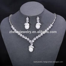 New pearl coral beads bridal necklace jewelry set or costume jewelry set