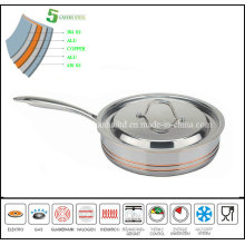 Newest 5ply New Style Stock Fry Pan