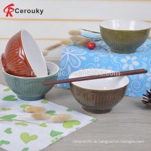 Großhandel runde Form Keramik Steinzeug Pasta Schüsseln Serving Schüssel