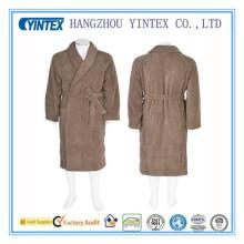 Peignoir en coton en coton massif en soie