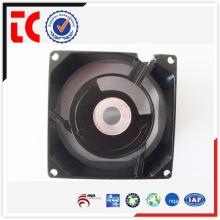Boîtier de ventilateur en aluminium noir de précision en gros, moulage sous pression personnalisé pour accessoire de dispositif mécanique