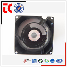 Wholesales precision black aluminum fan casing custom made die casting for mechanical device accessory