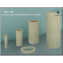 Equal diameter and refractory ceramic sprue pipe