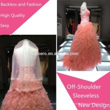 2015 Fashion bead sweetheart adorável Backless off-shoulder Vestidos de noiva / Nova chegada mais recente vestido de noite de casamento de alta qualidade