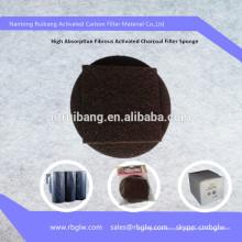 remoção ativa fibrosa material do odor da malha do filtro do carbono da almofada da sapata