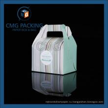 Простой переносной подарочный бокс для пирожных (CMG-box-012)