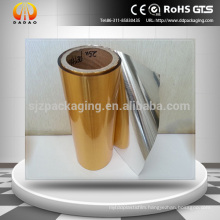 Brushed silver&glod metallized PET plastic film