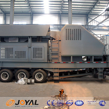 2015 high efficiency mini mobile crushing station for coal mine