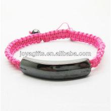 Bracelet tissé rouge d'hématite magnétique