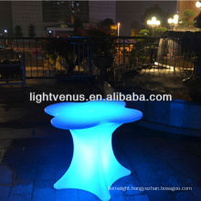 made in Shenzhen factory direct sale app control color changing rechargeable lighted outdoor furniture