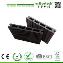 Placa de decks composta plástica de madeira anti-rachadura oca