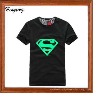 Superman luminoso fluorescente camiseta