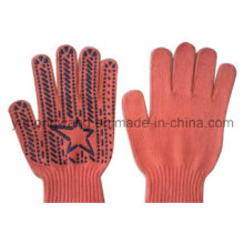Warm Knitting Acrylic DOT Plastic Gloves & Mittens