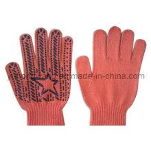 Warm Knitting Acrílico DOT plástico luvas e mitenes