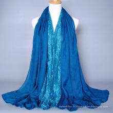 Élégant nouveau style femmes arabes polyester design foulard musulman hijab