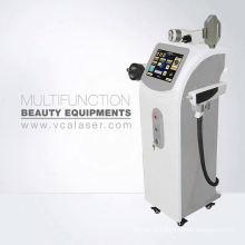 Portable IPL + RF + E-lumière + nd yag laser épilation et machine de suppression de tatouage