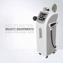 Portable IPL + RF + E-light + nd yag laser hair removal & tattoo removal machine