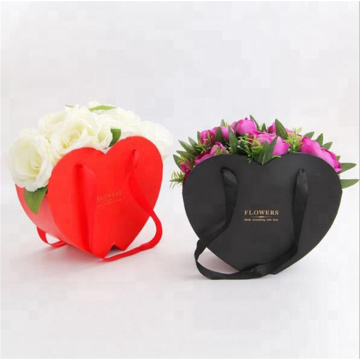 Partihandel Kartong Heart Shape Flower Box Packaging
