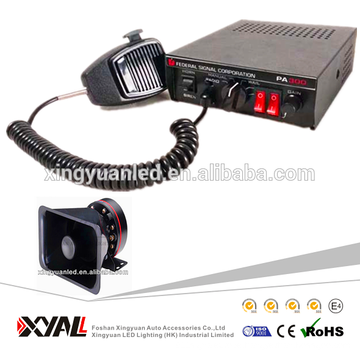 5 Sound Car Electronic Warning Siren Alarm Police Ambulance Loudspeaker