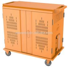 ZMEZME hot sale folha de metal tablet seguro carrinho de carga com sistema de energia, laptop em movimento carrinho de carga / armário com prateleiras