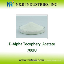 Assurance du commerce Poudre d'acétate de vitamine E naturelle 700IU