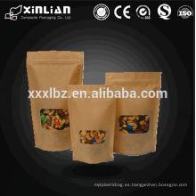 Doy pack productor de papel kraft stand up bolsas / bolsa standup bolsa de arte
