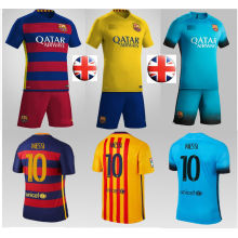 Barcelona Messi Football Kit Soccer Clothes Kids Sport Uniforms