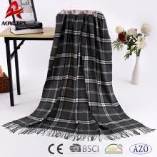 Manta clássica muito quente 100% tecido acrílico quente cobertor atacado