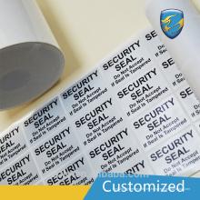 Alta calidad de seguridad de la fábrica viod etiqueta con neumático