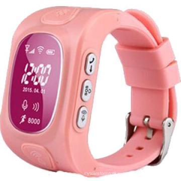 Новый Бесплатная доставка дети слежения часы с GPS для двойной системы, Android, iOS поддержки сос (wt50-кВт)