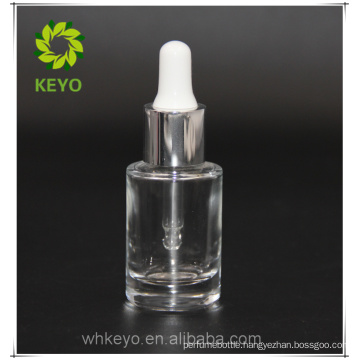 15 ml glass screw cap bottle cosmetic palette packaging dropper with measurement