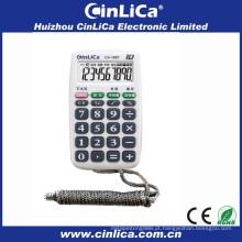 Handheld mini calculadoras de bolso para presente promocional com colar