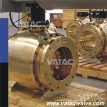 Válvula de bola de acero forjado de tres piezas